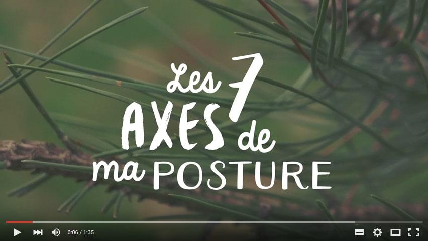 Les 7 axes de ma posture