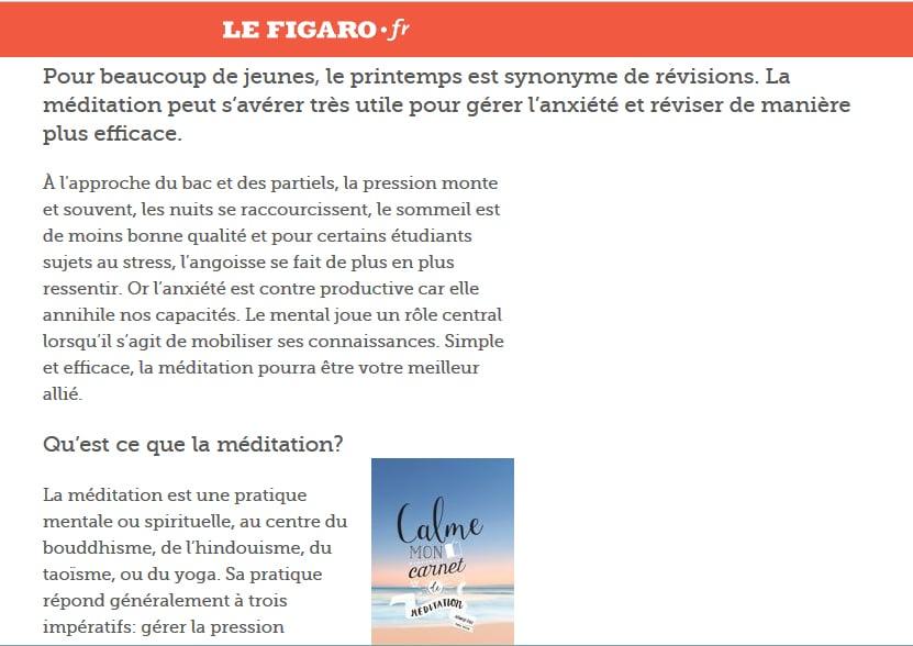 Lefigaro.fr – Stress des examens : et si la méditation était la solution ?