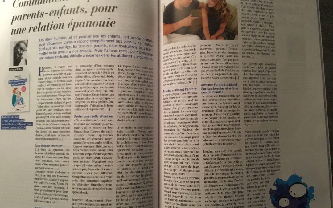 Vers une parentalité bienveillante dans le magazine «Réalités Familiales»