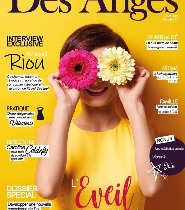 Arnaud Riou dans le magazine «La plume des anges»