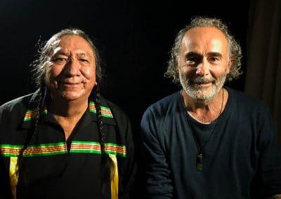 Avec Ernie Lapointe arrière petit-fils de Sitting Bull