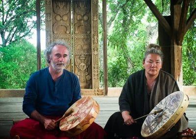 Avec grand mère Ayengat chère spirituelle mongole